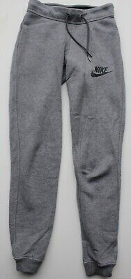 NIKE tight/ slim grey cotton joggers/ tracksuit bottoms size XS EX COND