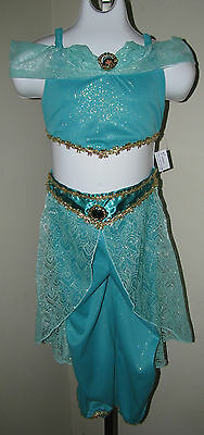 AUTHENTIC DISNEY WORLD PRINCESS JASMINE COSTUME FROM ALADDIN sz.XS 4/5 NWTS!