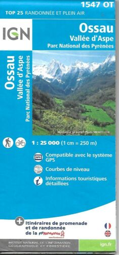 Map of Ossau, Vallee d