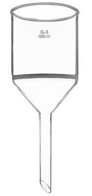 Buchner Funnel 1000ml Plain Stem G-3 Sintered Disc - Boro. Glass - Eisco Labs