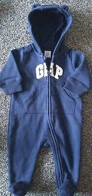 Baby Boys baby gap hooded  All-in-one 0-3 Months Excellent Condition