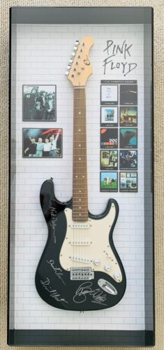 PINK FLOYD Signed Autograph Guitar Live8, Gilmour Waters Mason Wright, Certified