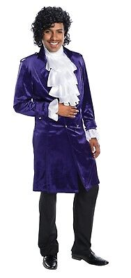 Edwardian Halloween Costume (Charades Purple Prince Edwardian Velvet Jacket Adult Halloween Costume)