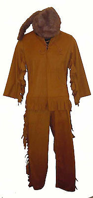 Davy Crockett Costume (Mountain Man Frontiersman Davy Crockett Kit Carson Boys Costume Jim Bridger)