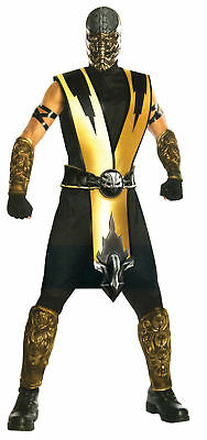 Mortal Kombat Scorpion Adult Costume Molded Armor Pieces Halloween Fancy Dress ()