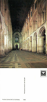 1980's THE NAVE ELY CATHEDRAL ELY CAMBRIDGESHIRE UNUSED COLOUR POSTCARD