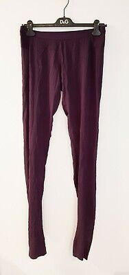 ILARIA NISTRI silk extra long pants amethyst size 46 NEW tags made in Italy
