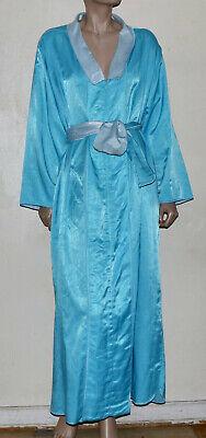 Fernando Sanchez vintage zip front long collar caftan lounger robe M -