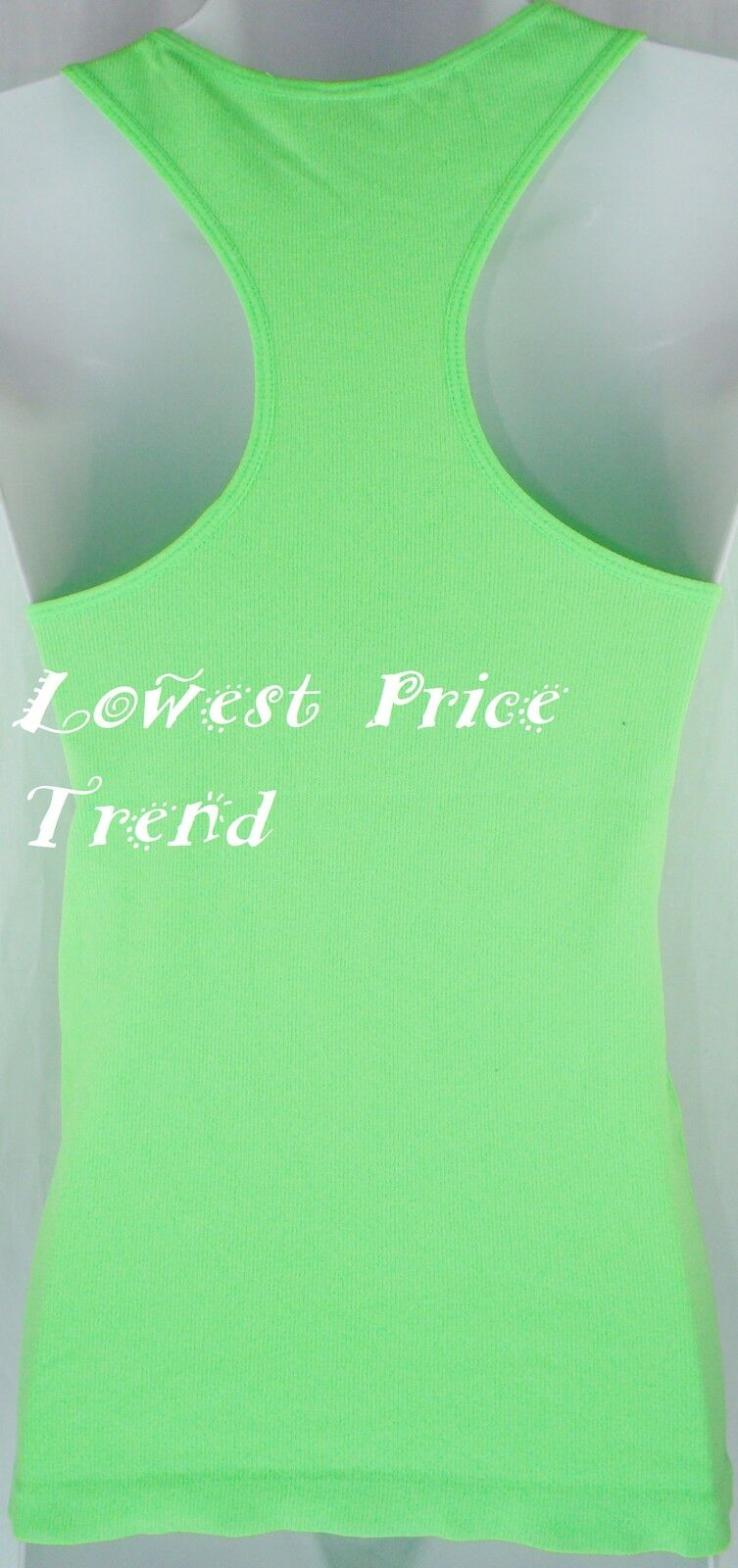 Women's Racerback Tank Top 92% Polyester Basic Solid Hot Tee Cami NEW TT400
