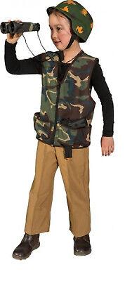 Soldat Weste Ranger Army Rambo Armee Uniform Söldner Kostüm Tarnanzug Helm