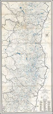 John Muir Trail 1934 Sierra Club pictorial First Printed map POSTER 48120