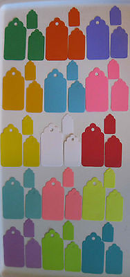Scalloped Gift Hang Tags Choice of Colors Sizes Quality Blank Cardstock Lot -
