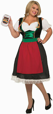 Fraulein Oktoberfest German Beer Wench Adult Womens Costume Plus Size NEW - Beer Wench Costume Plus Size