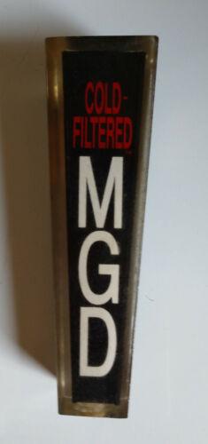 MGD Miller Genuine Draft Mini Acrylic Beer Tap Handle Vintage