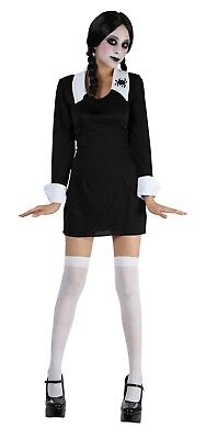 Creepy School Girl Addams Family Wednesday Adult One Size Costume Halloween AC14