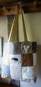 Patchwork Quilted Tote Bag Sewing Pattern (easy to make)