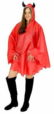 Teufel Party Poncho für Erwachsene Karneval Halloween Regen - Party Kostüme Für Erwachsene