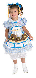 Halloween-Child-Goldilocks-Costume-Toddler-3-Bears-Girl-Fits-1-2-year-Olds-New