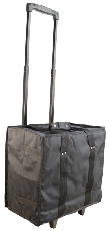 Collapsible Trolley Carring Case + 11 Trays Jewellery Sales Reps Storage  Case