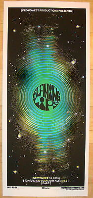 2009 Flaming Lips - Columbus Silkscreen Concert Poster S/N Martin