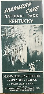 1950's  Mammoth Cave National Park Kentucky Lodge Cottages brochure b