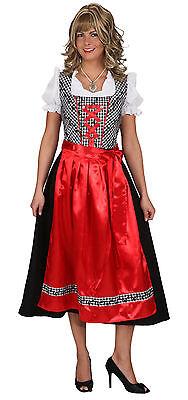 Dirndl Emma rot-schwarz NEU - Damen Karneval Fasching Verkleidung Kostüm