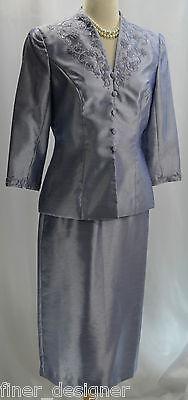 Alex Evenings formal Mother of the bride jacket cocktail suit lilac dress 6P