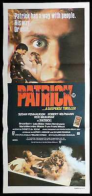 PATRICK Original Daybill Movie poster ROD MULLINAR Australian Horror