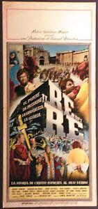 Locandina IL RE DEI RE 1961 JEFFREY HUNTER SIOBHAN MCKENNA RON RANDELL MGM - Italia - L'oggetto può essere restituito - Italia