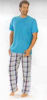 Baumwolle Gewebte Hose (Pyjama-Hose lang Loungehose Schlafanzug Schlafanzughose Herren Baumwolle gewebt)