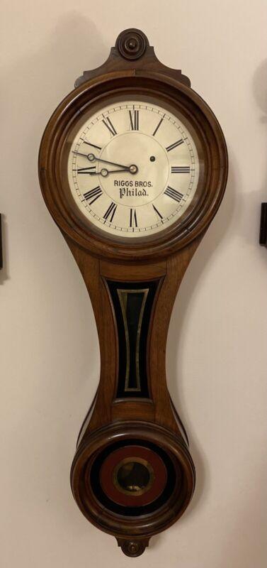 E Howard Riggs Brothers Figure 8 No. 9 Wall Clock
