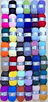 Woolyhippo Acrylic DK Yarn 100g Double Knitting Baby Wool Soft Nylon Crochet
