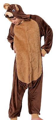 Bären Kostüm Herren Teddy Bär Tier Jumpsuits Overall Halloween Verkleidung