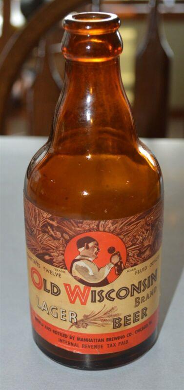 IRTP Old WI Lager Manhattan Brg Chicago steinie bottle Al Capones Brewery