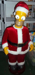 MEGA Rare Simpsons Homer Simpson 56'' Talking Santa Claus Store Display? 1990s