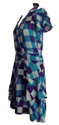 Cacharel robe dress soie patchwork noeud corolle   t 38/40