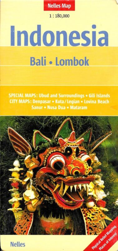 Map of Bali & Lombok, Indonesia, by Nelles Map