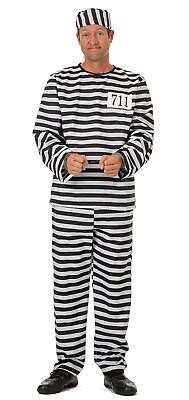 Sträflingskostüm Sträfling Gefangene Herren Kostüm Party Motto Halloween ()