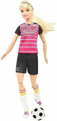 Made to Move Jointed Articulated Blonde Soccer Player Barbie Doll/New/Mint