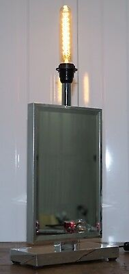 STUNNING VENETIAN GLASS RRP £279.99 MIRRORED TABLE LAMP WITH HEAVY CHROME FRAME
