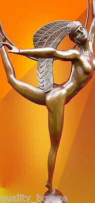 "MAJESTIC FRENCH ART DECO, Signed Morante ""Hoop Dancer "", BRONZE STATUE FIGURE"