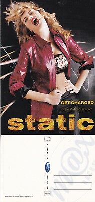 STATIC OUTERWEAR UNUSED ADVERTISING COLOUR POSTCARD