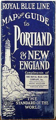 1927 Portland Maine New England vintage Royal Blue Line tour travel brochure b