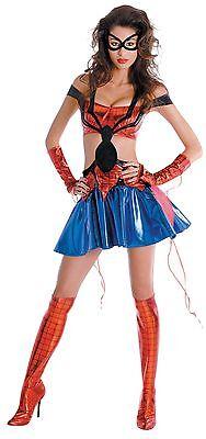 Spiderman Girl Kostüme (The Amazing Spider-Man Spider-Girl Prestige Weiblich Erwachsene Kostüm Size)