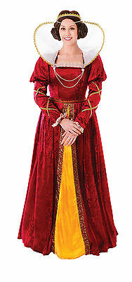 Ladies Red Queen Elizabeth Fancy Dress Costume Elizabethan Outfit UK 10-14 (Elizabethan Outfit)