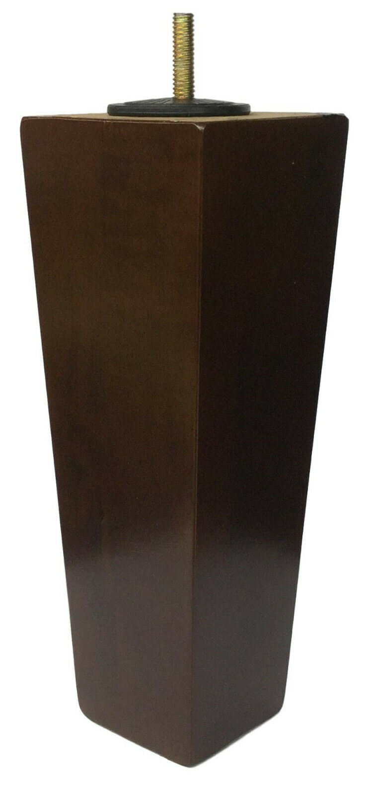 8″ Dark Walnut Tapered Pyramid Sofa/Couch/Chair Wood Legs [5/16″ Bolt] Set of 4 Furniture