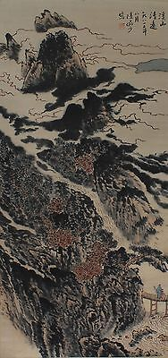 VERY RARE CHINESE HAND PAINTING SCROLL LU YANSHAO MARKED (L956)