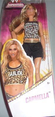 CARMELLA - WWE Mattel Superstars 12 Inch Doll Wrestling Girls Toy NEW DMG PKG