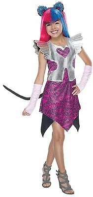 Girls Catty Noir Costume Monster High 13 Wishes Cat Fancy Dress Kids S M L Child](Monster High Costumes 13 Wishes)
