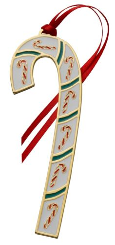 2021 Wallace Candy Cane 41st Edition Annual Gold-plate & Enamel Ornament NEW